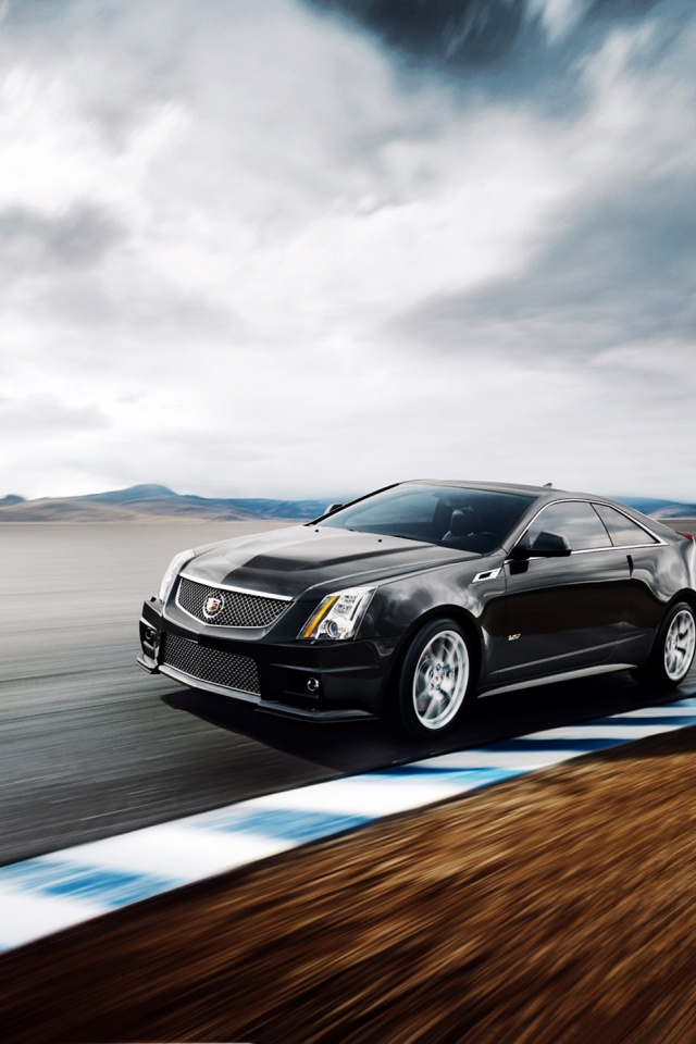640x960 2011 Cadillac Cts V Coupe Iphone 4 Wallpaper