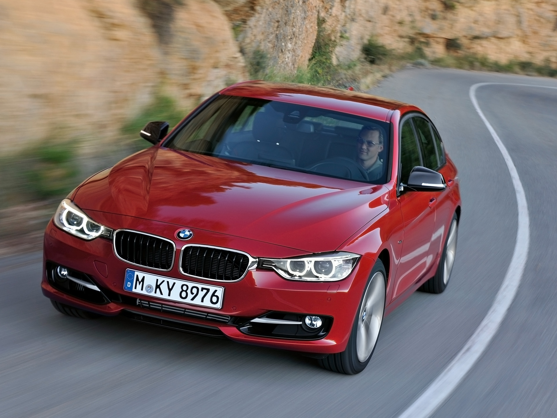 2012 Bmw 3 Series Sedan Sport Line On The Road Wallpapers 2012 Bmw 3 Series Sedan Sport Line