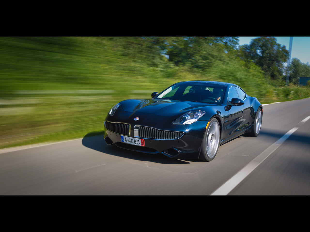 2012 Fisker Karma Motion Front Angle wallpapers | 2012 ...