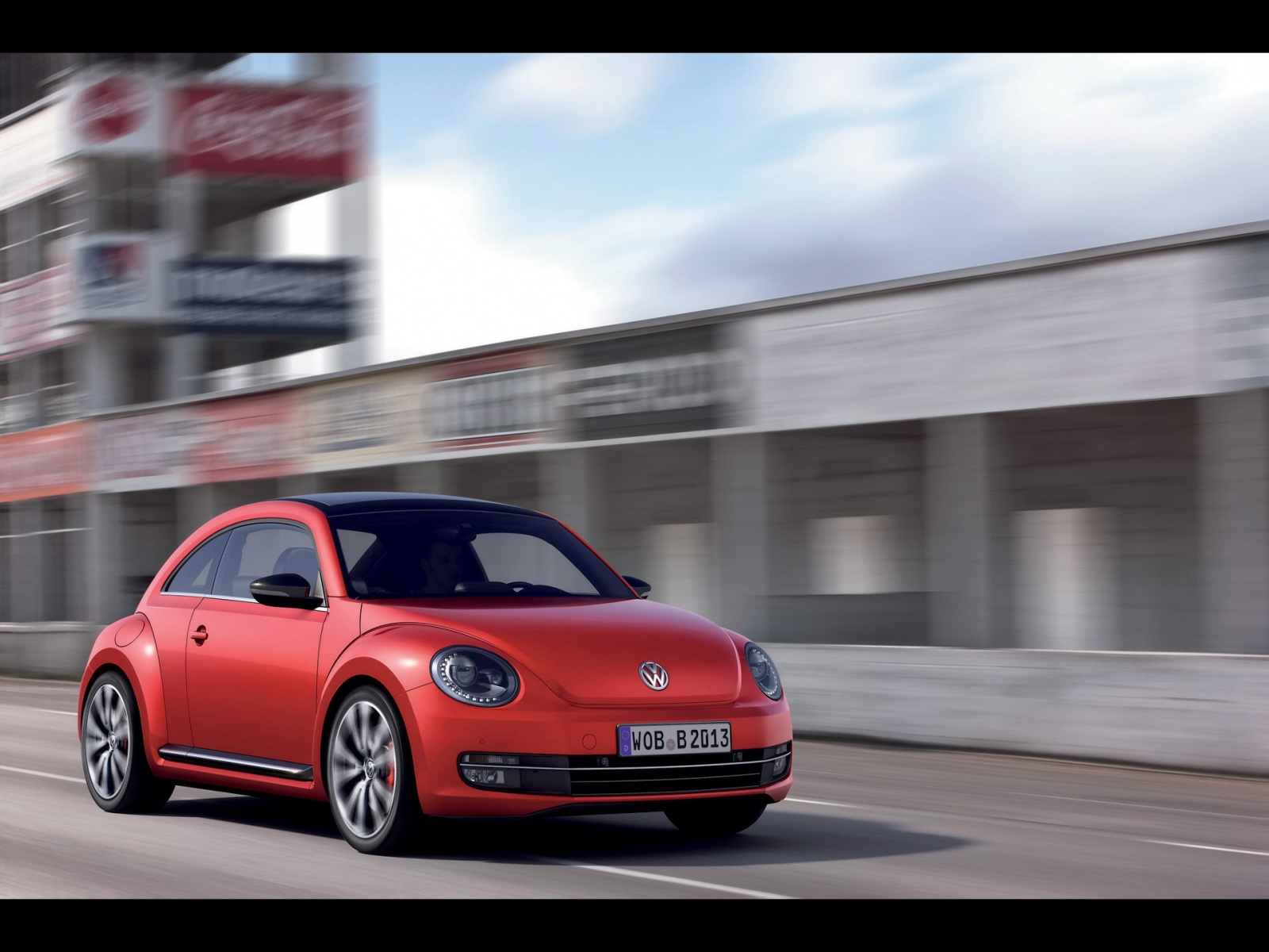 1500x500 2012 Red VW Beetle Front Angle Twitter Header Photo