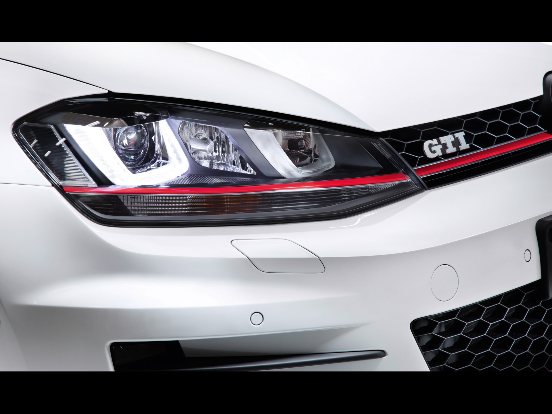 2012 Volkswagen Golf 7 Gti Concept Headlights Wallpapers