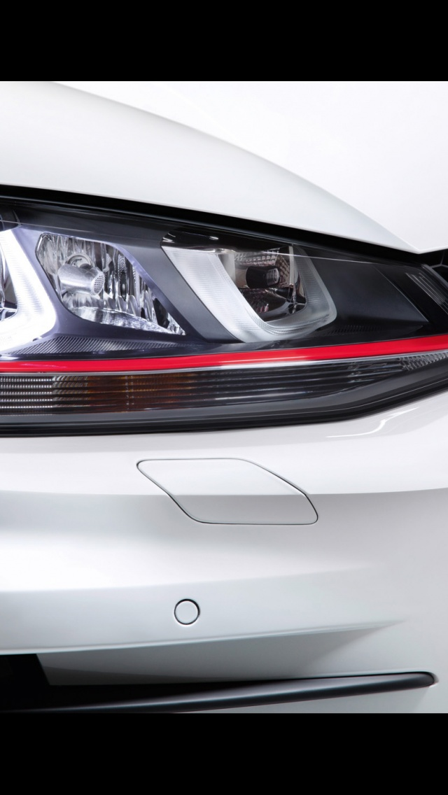 640x1136 2012 Volkswagen Golf 7 Gti Concept Headlights Iphone 5 Wallpaper