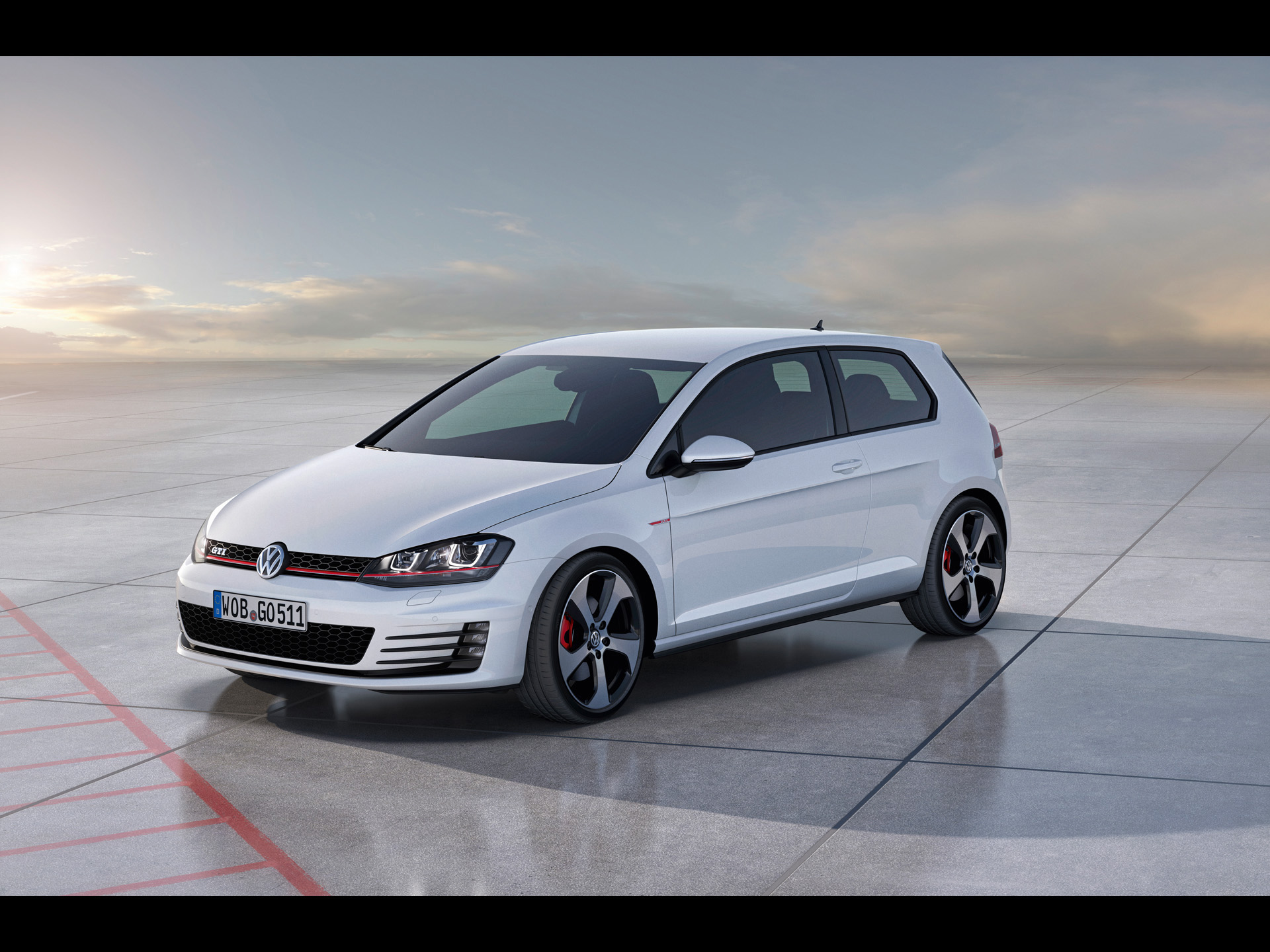 2012 volkswagen golf 7 gti concept static side angle wallpapers 2012 volkswagen golf 7 gti. Black Bedroom Furniture Sets. Home Design Ideas