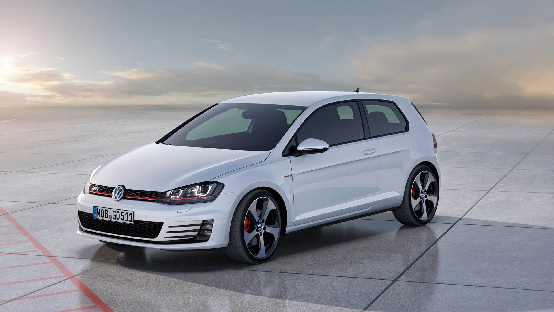1920x1080 2012 Volkswagen Golf 7 GTI Concept Static Side Angle