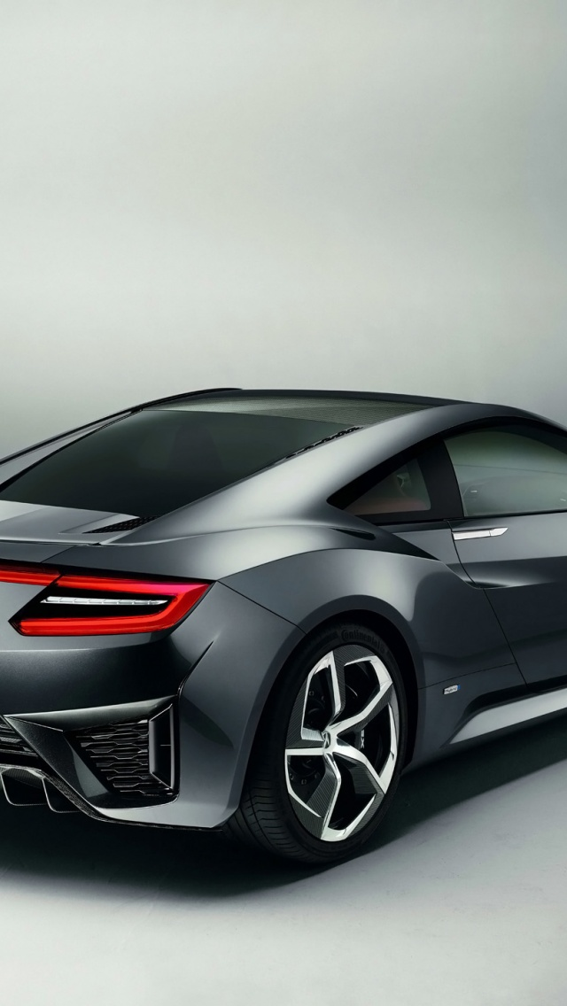 640x1136 2013 Acura NSX Concept Rear Angle Iphone 5 Wallpaper