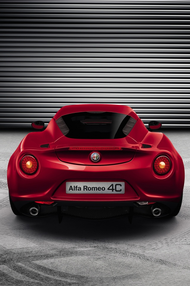 640x960 2013 Alfa Romeo 4c Static Rear Iphone 4 Wallpaper