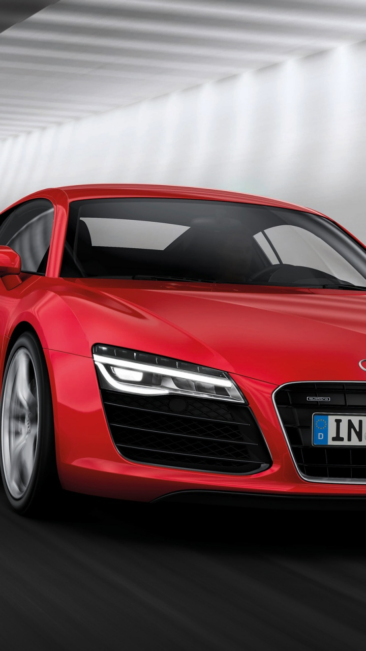 720x1280 2013 Audi R8 Motion Red Front Angle Galaxy S3