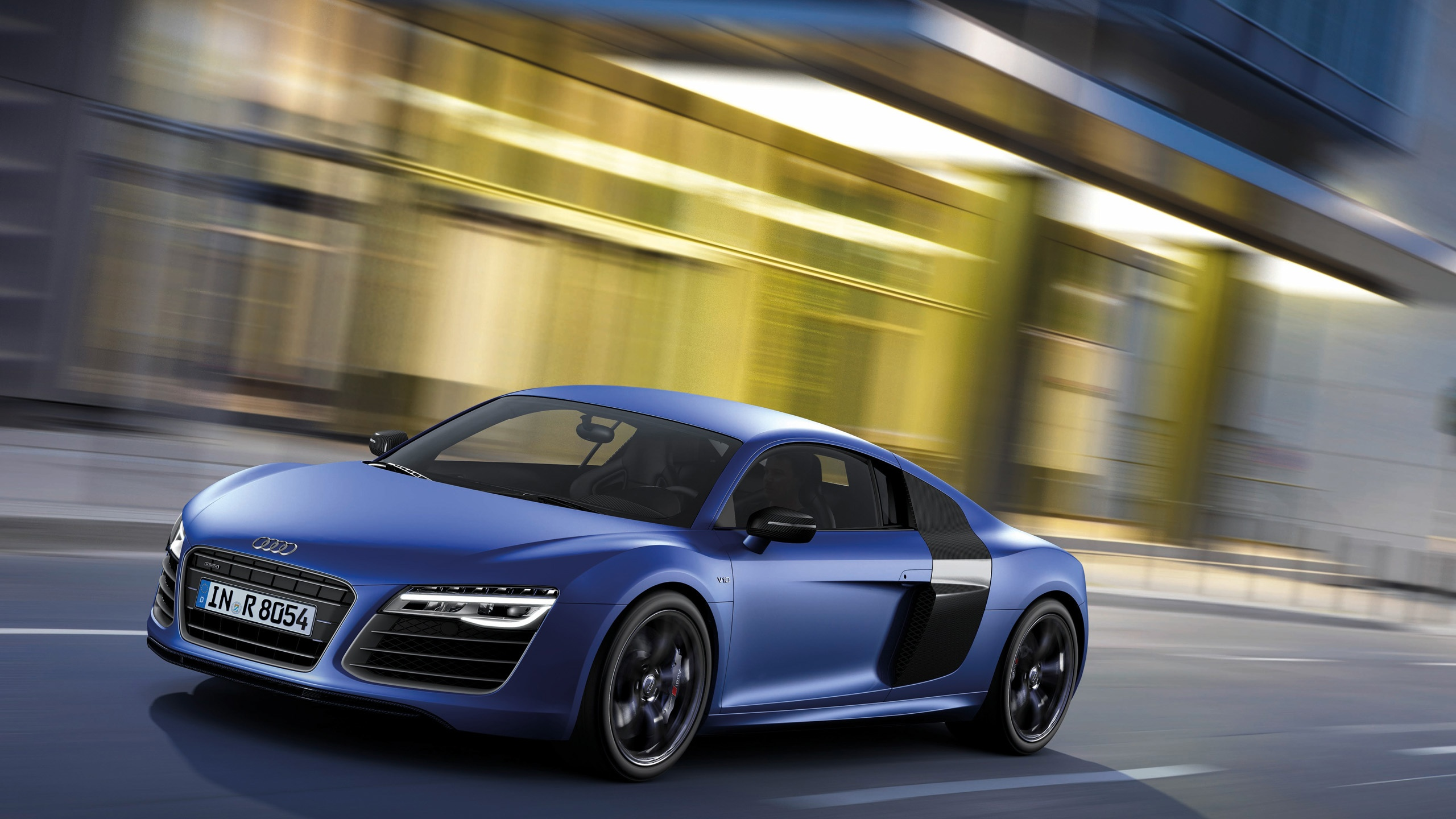 2560x1440 2013 Audi R8 V10 plus Sepang Blue Pearl Effect Side Angle ...