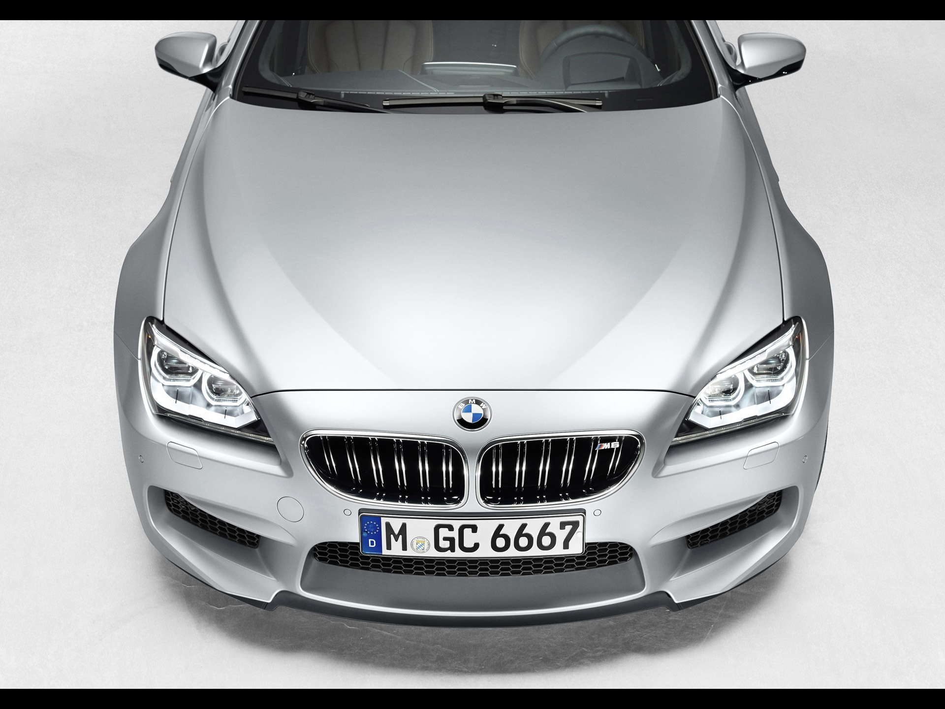 2013 Bmw M6 Gran Coupe Bonnet Section Studio Wallpapers