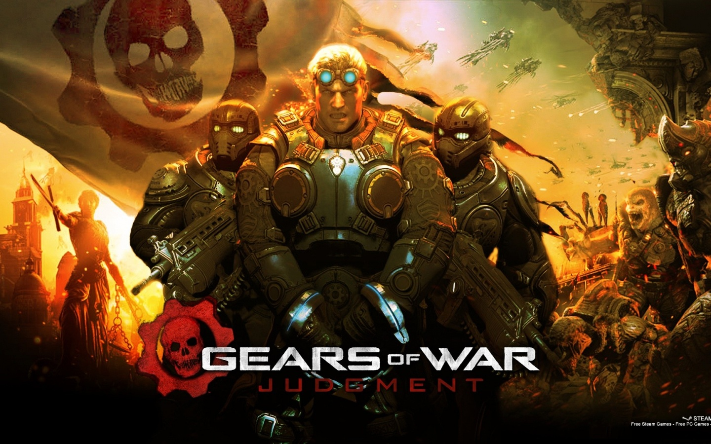 1440x900 2013 Gears of War Judgment Gam desktop PC and Mac wallpaper