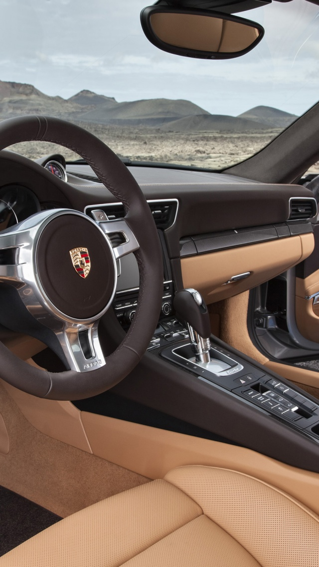 640x1136 2013 porsche 911 turbo interior iphone 5 wallpaper