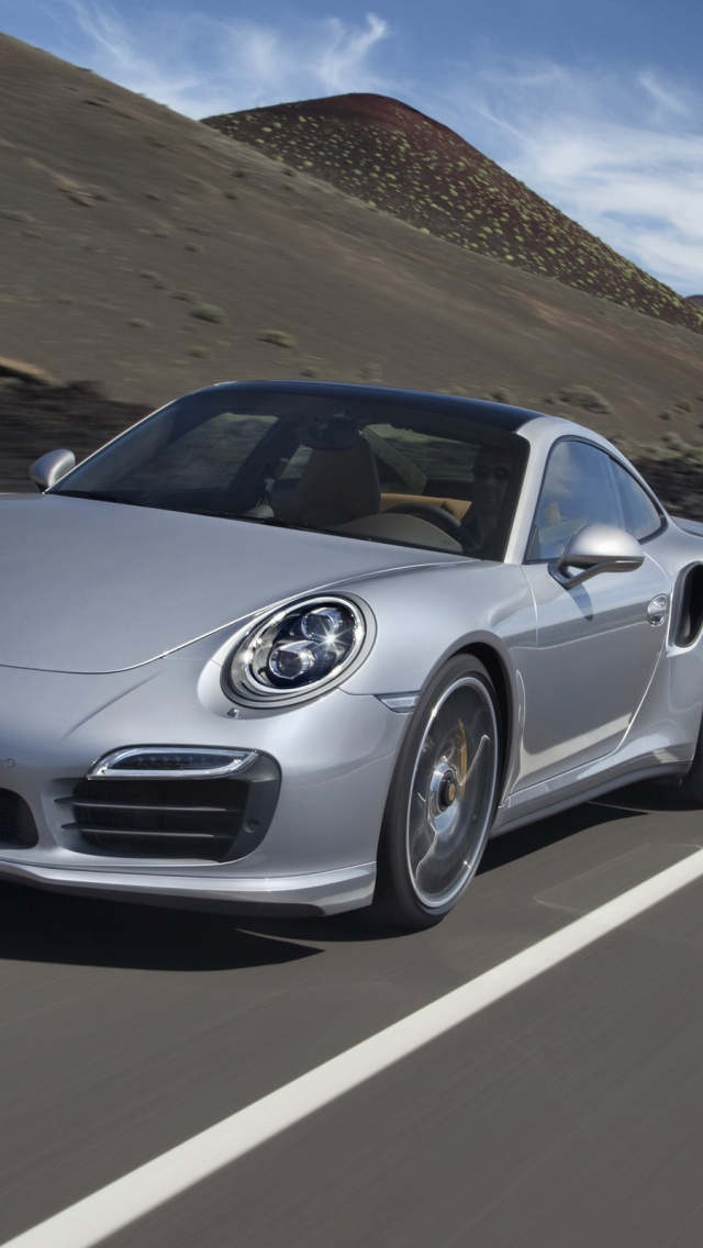 640x1136 2013 porsche 911 turbo motion front angle iphone 5 wallpaper - Porsche 911 Turbo Wallpaper Iphone