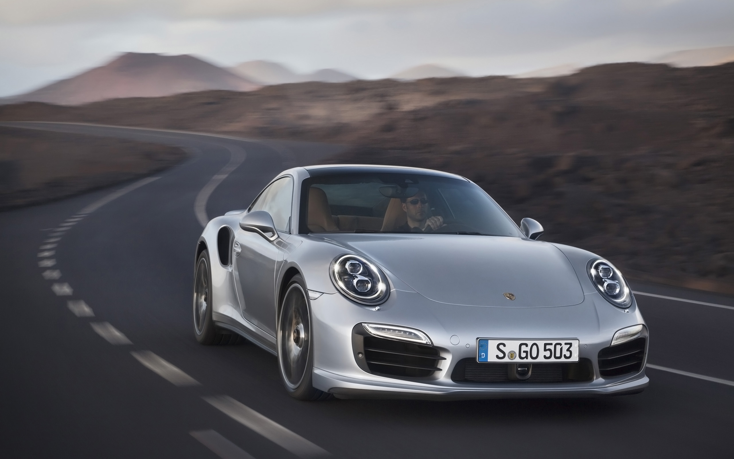 2013 porsche 911 turbo motion front wallpapers and stock photos - 2015 Porsche 911 Turbo Wallpaper