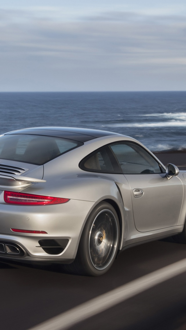640x1136 2013 porsche 911 turbo motion rear iphone 5 wallpaper