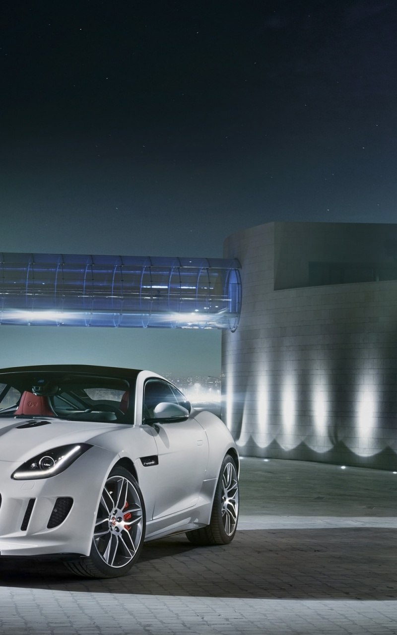 800x1280 2014 Jaguar F-Type R Coupe Polaris White Static Front Angle