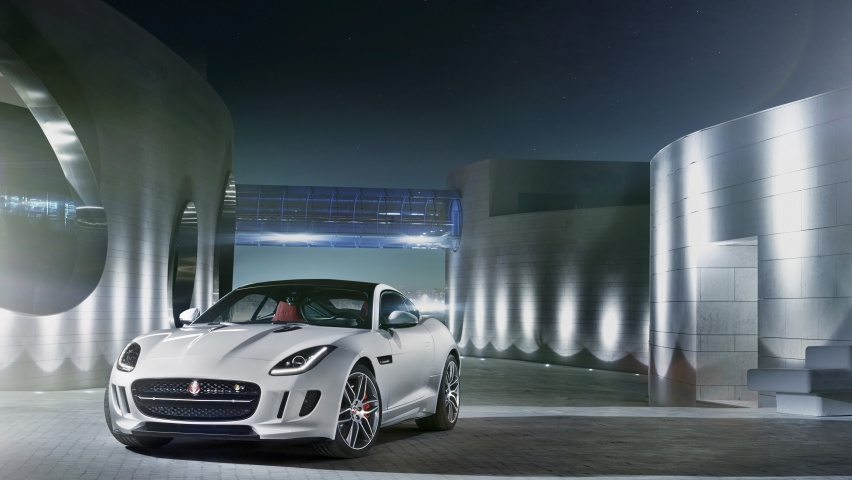 646x220 2014 Jaguar F-Type R Coupe Polaris White Static Front Angle