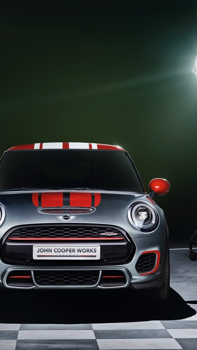 640x1136 2014 mini john cooper works concept static front iphone 5 wallpaper. Black Bedroom Furniture Sets. Home Design Ideas