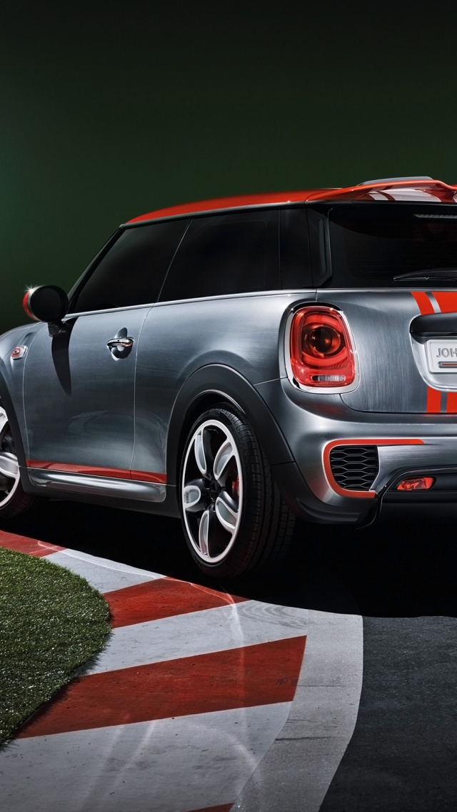 Iphone wallpapers - 640x1136 2014 Mini John Cooper Works Concept Static Rear