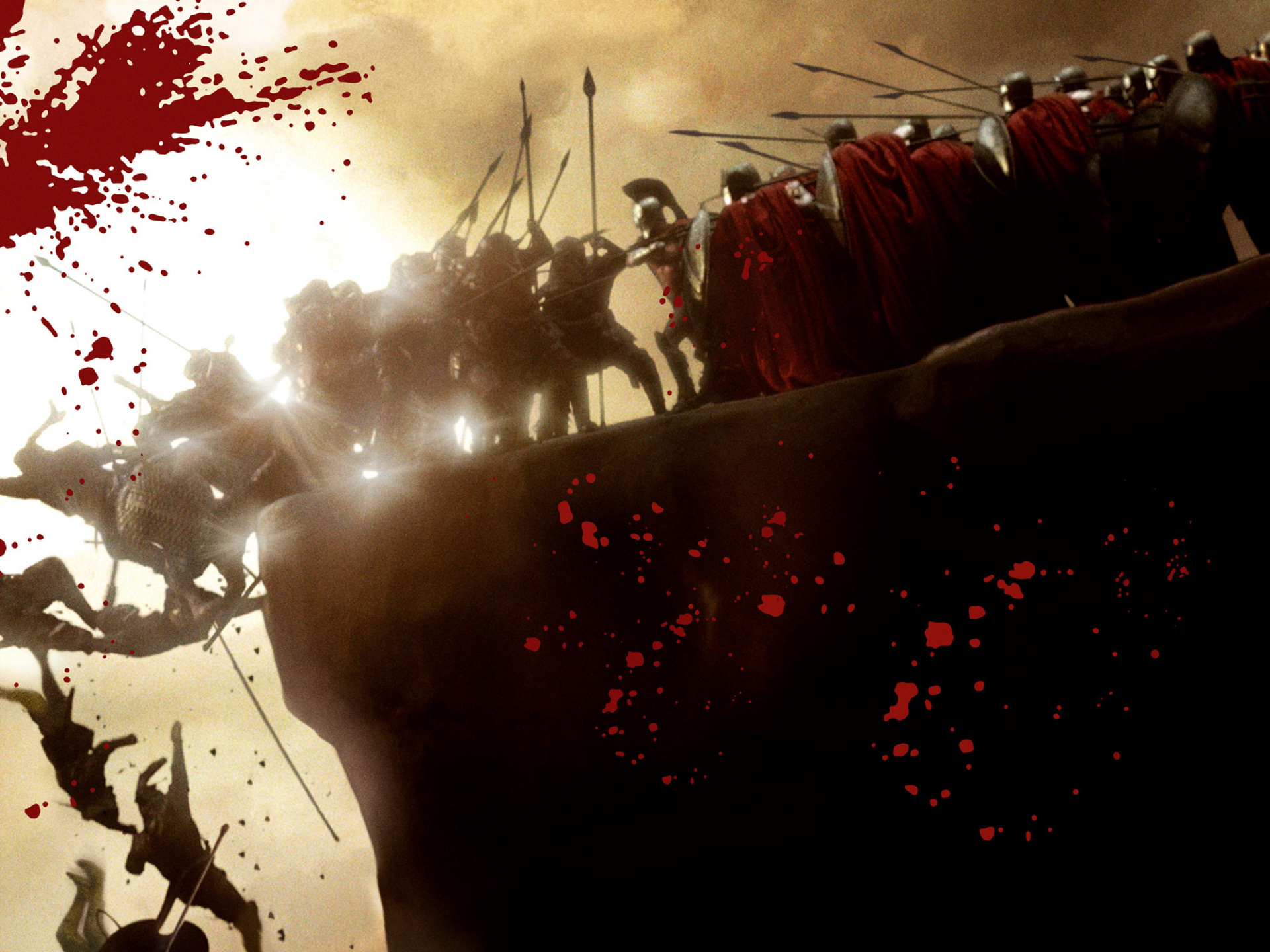300  First Battle Scene  Full HD 1080p  Earthquake No Captain Battle Formations