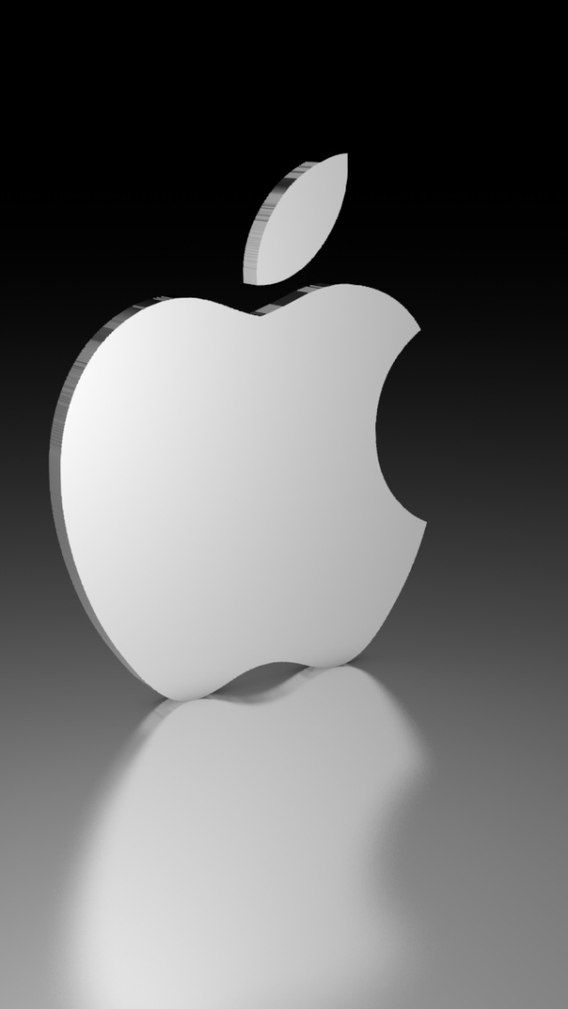 640x1136 3D Apple Logo Iphone 5 wallpaper