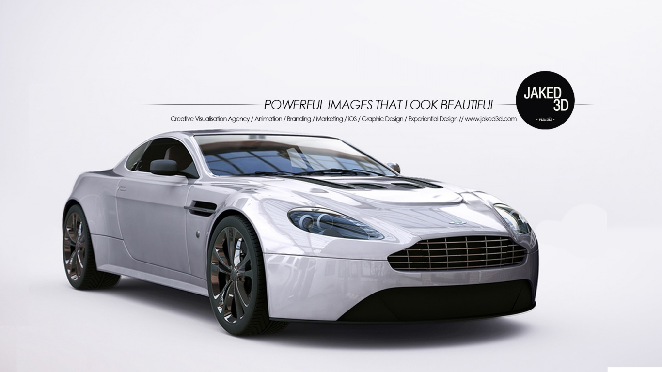 1366x768 3d Car Designs Aston Martin Desktop Pc And Mac Wallpaper