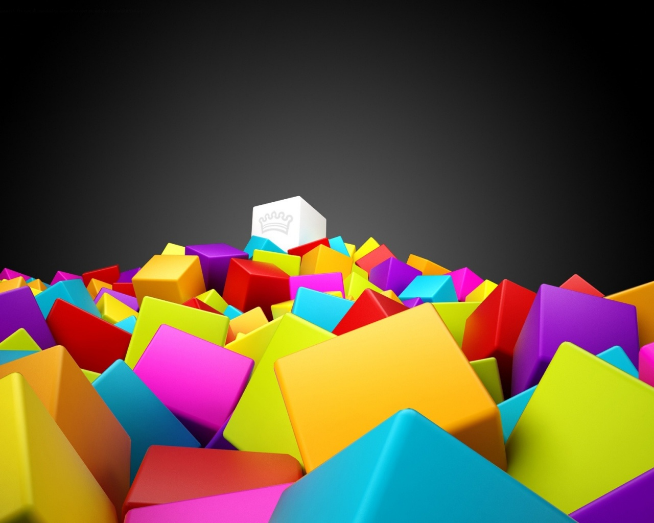 1280x1024 3D Colorful Squares
