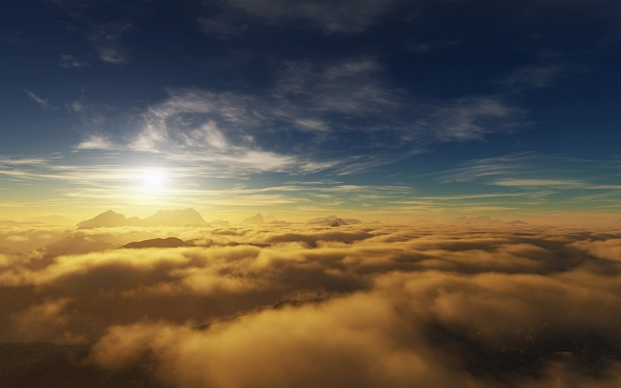 1280x800 Above the clouds desktop PC and Mac wallpaper