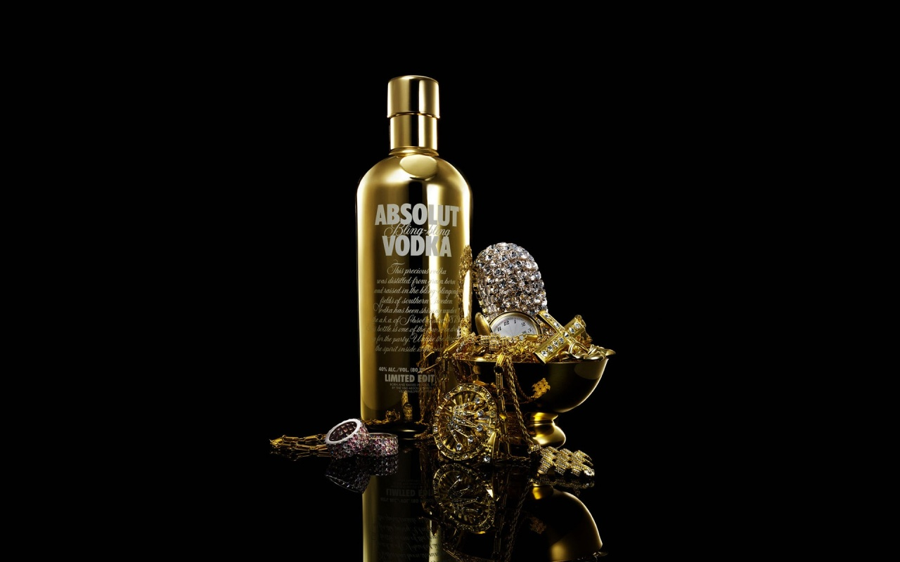 1280x800 Absolut In Gold