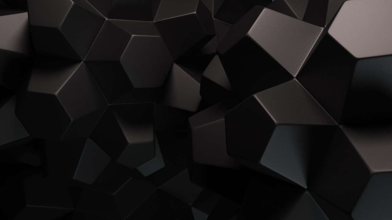 1280x720 Abstract Black Shapes desktop PC and Mac wallpaper