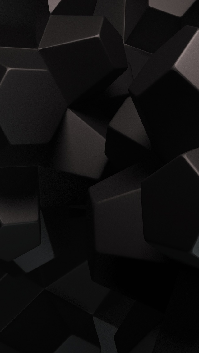 640x1136 Abstract Black Shapes Iphone 5 Wallpaper