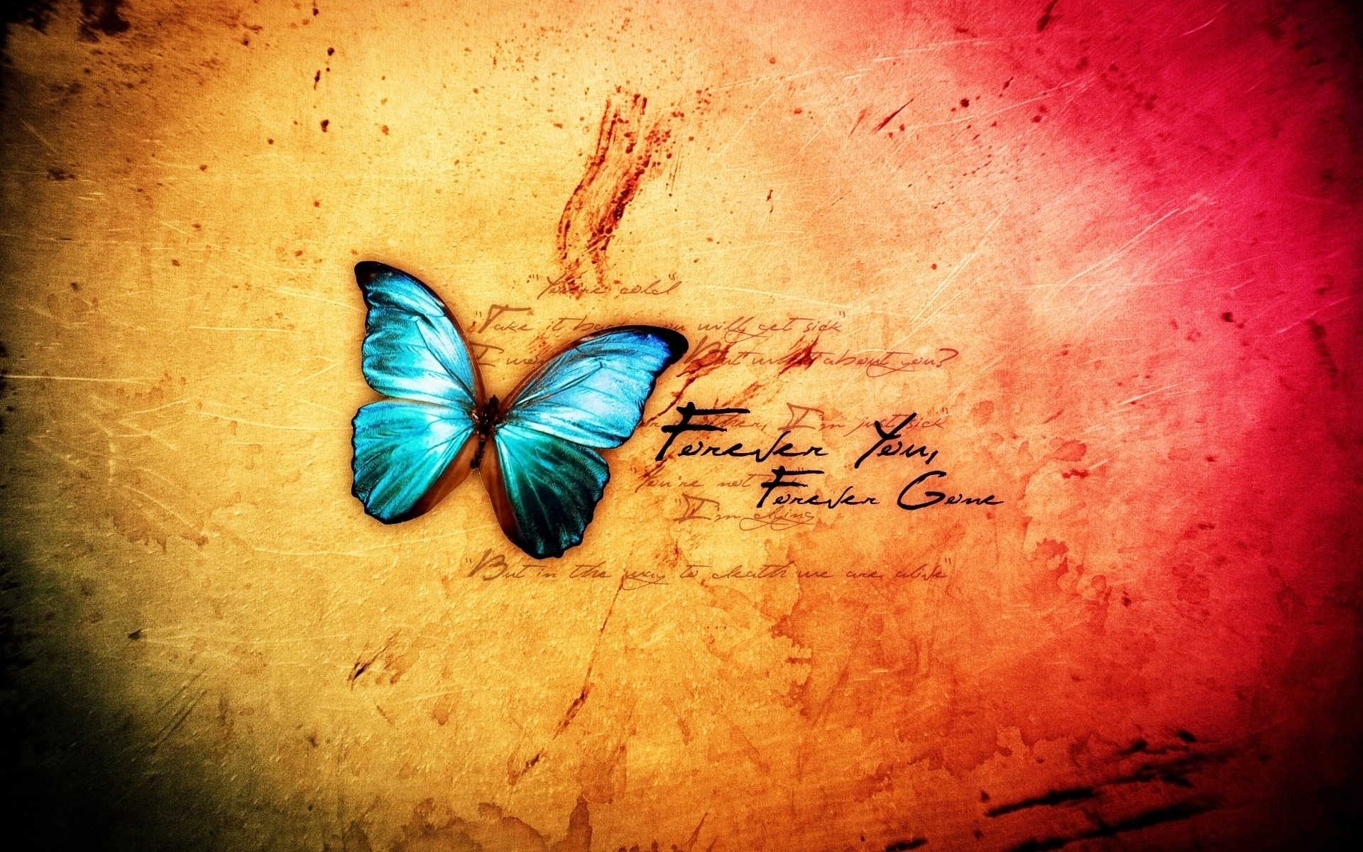 butterfly blue abstract wallpaper - photo #4