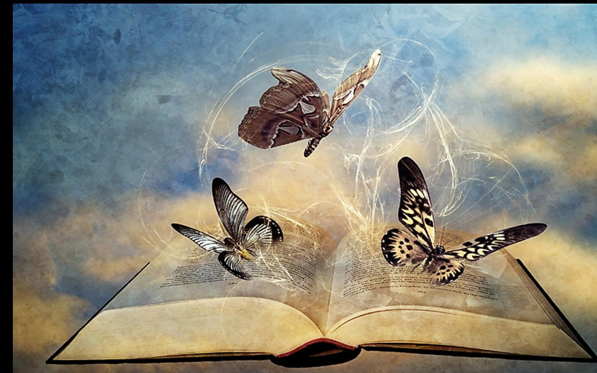 Abstract Butterflys & Book Wallpapers