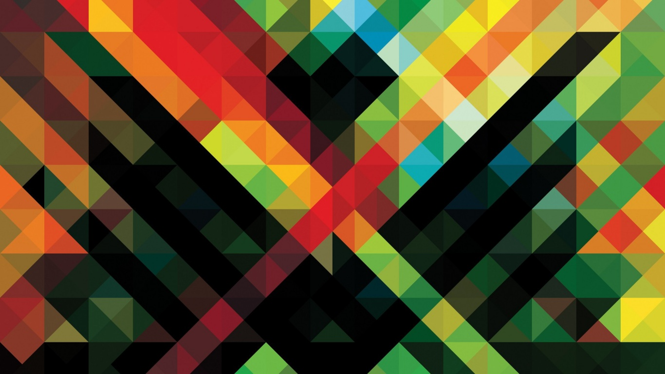 1366x768 Abstract Colorful Pattern Desktop PC And Mac Wallpaper