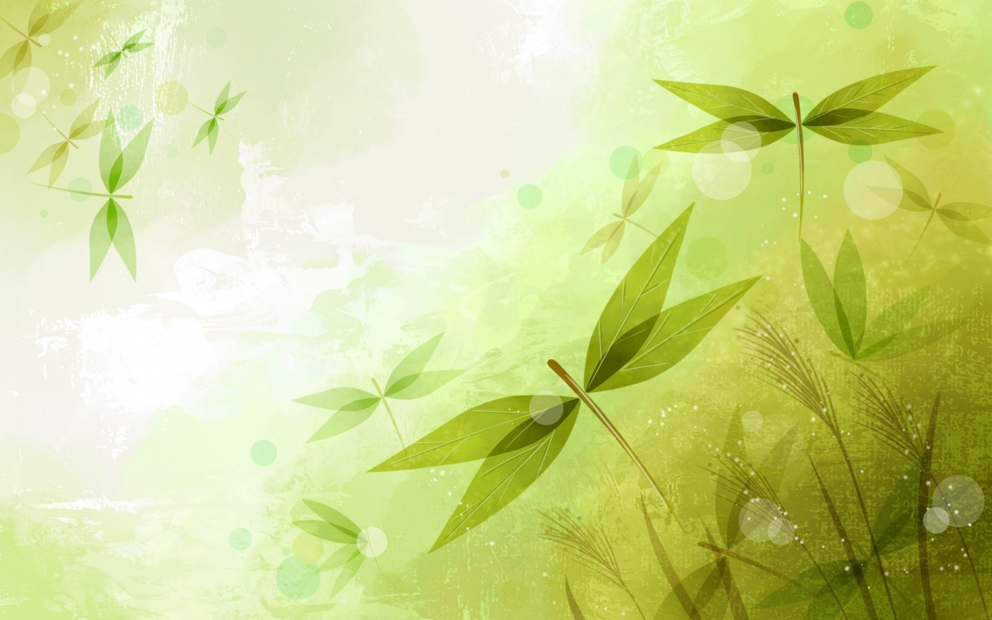 1440x900 Abstract Leaves Green