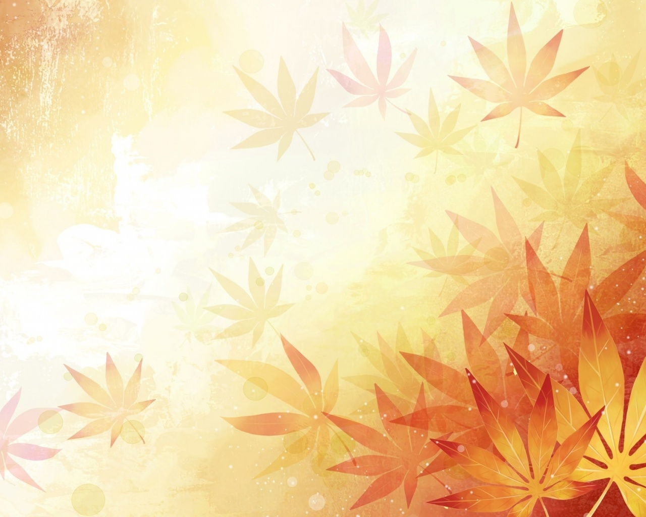 1280x1024 Abstract Leaves Orange