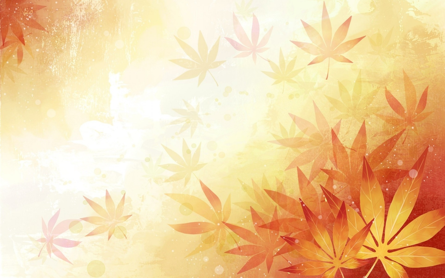1440x900 Abstract Leaves Orange