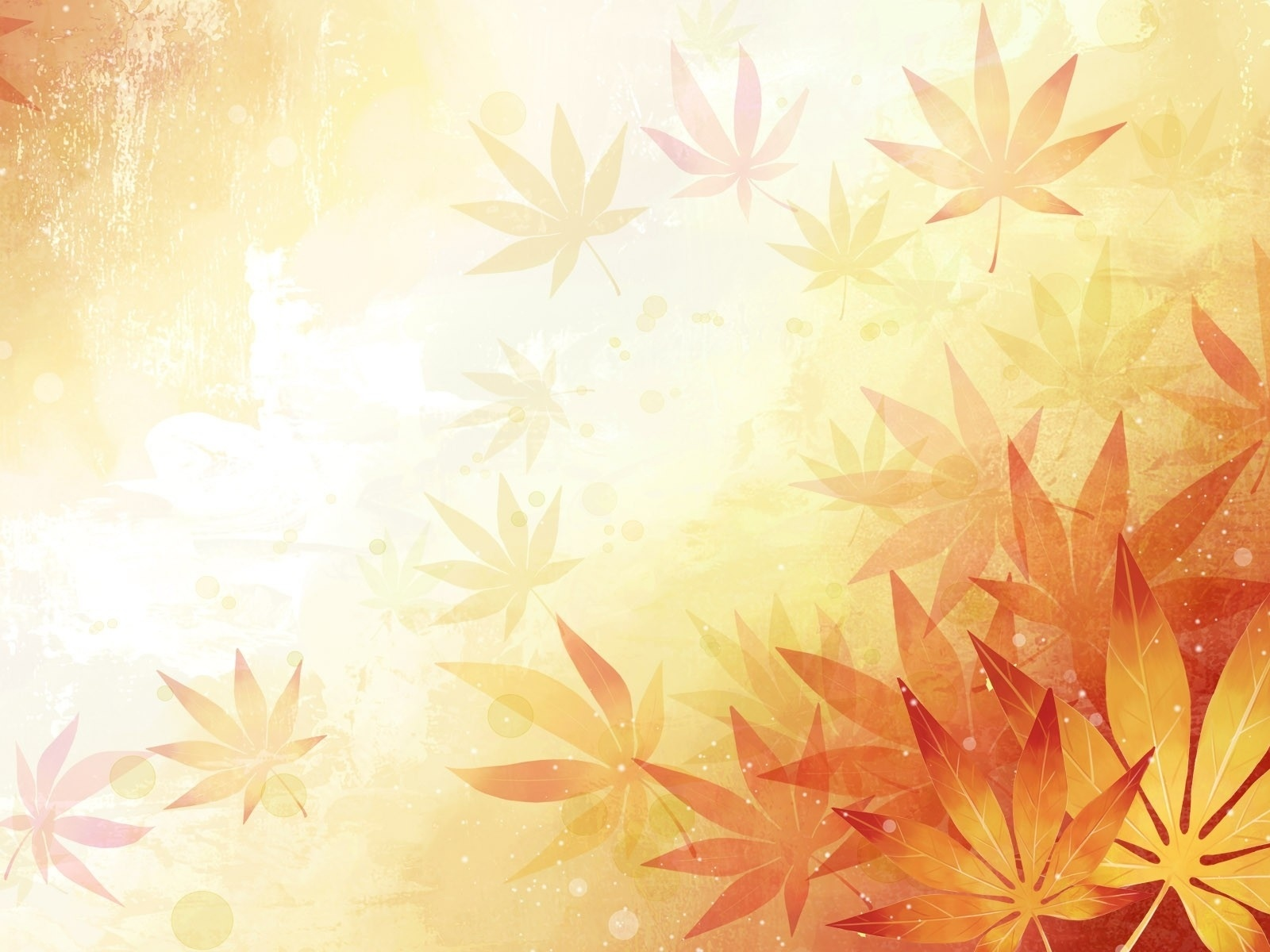 1500x500 Abstract Leaves Orange