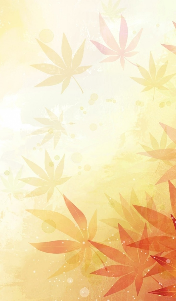 600x1024 Abstract Leaves Orange