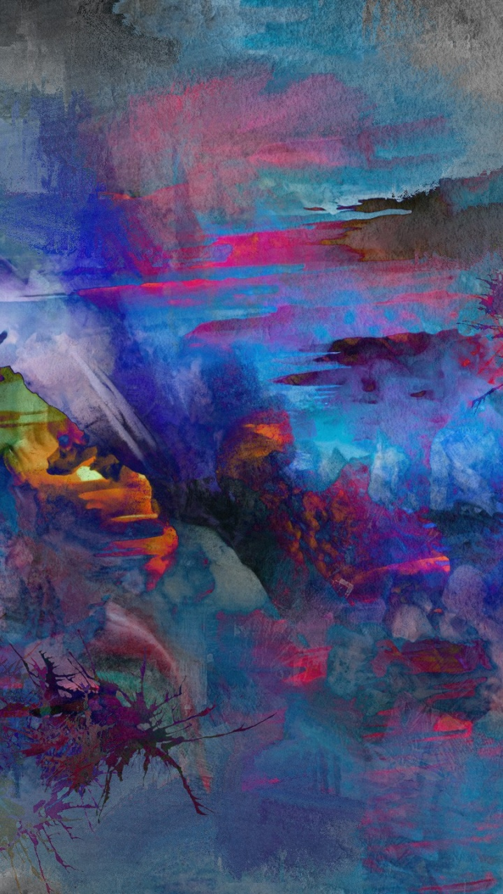 720x1280 abstract nature painting galaxy s3 wallpaper