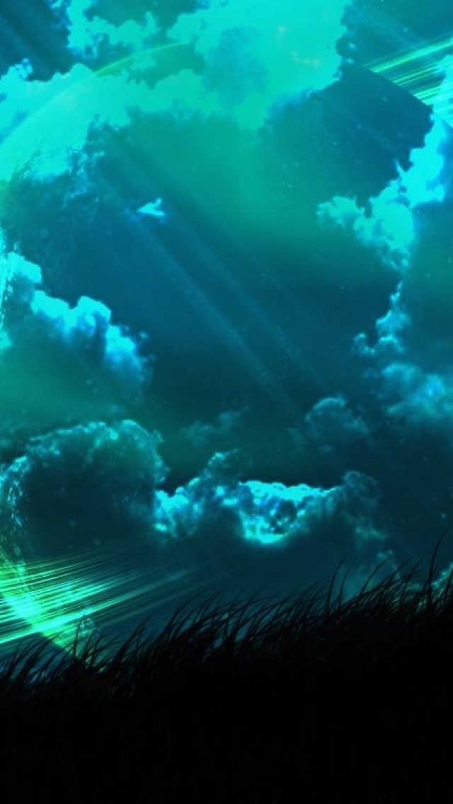 640x1136 Abstract Planet Dark Nature Iphone 5 Wallpaper