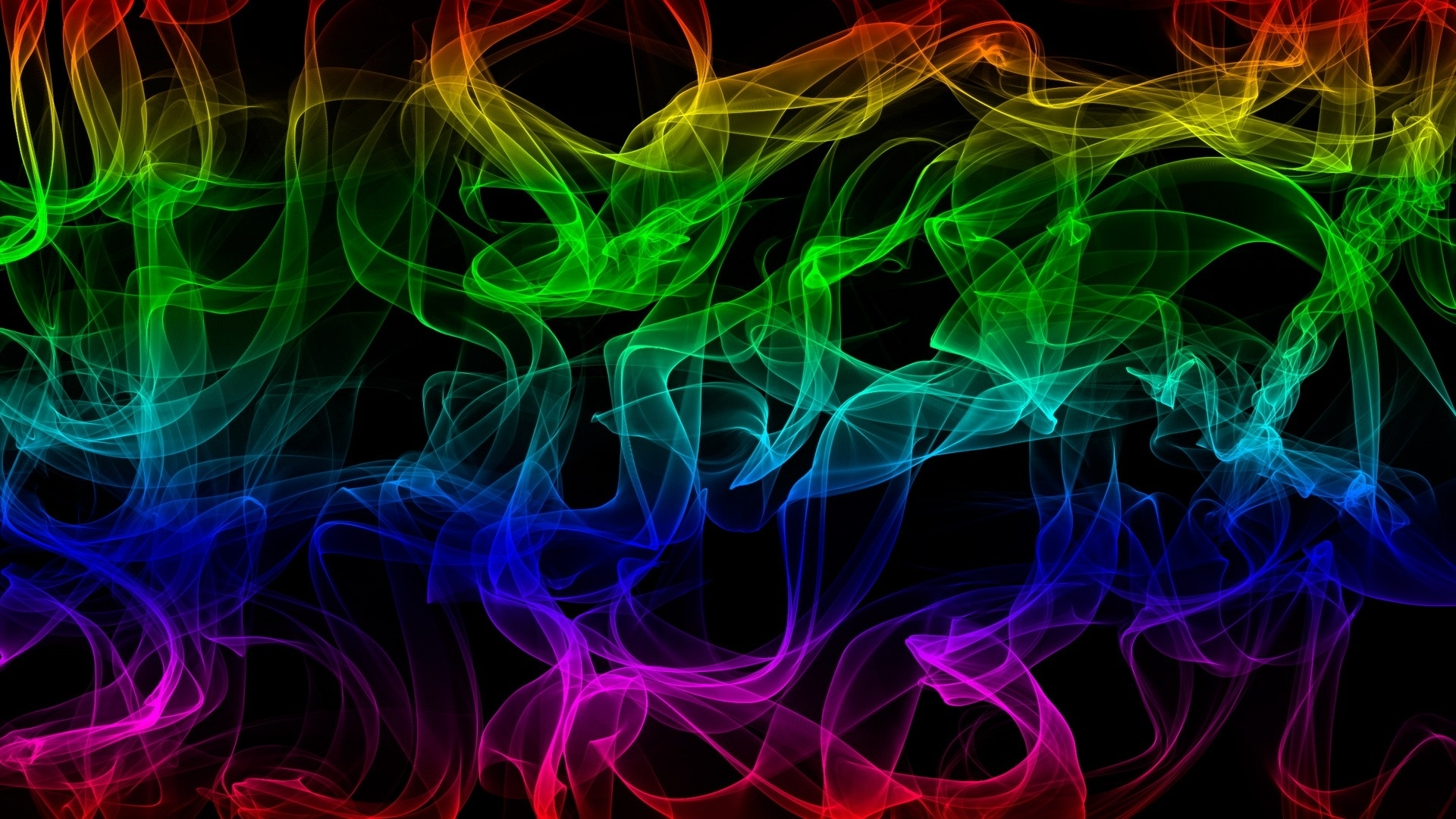 1920x1080 Abstract Rainbow Smoke desktop PC and Mac wallpaper