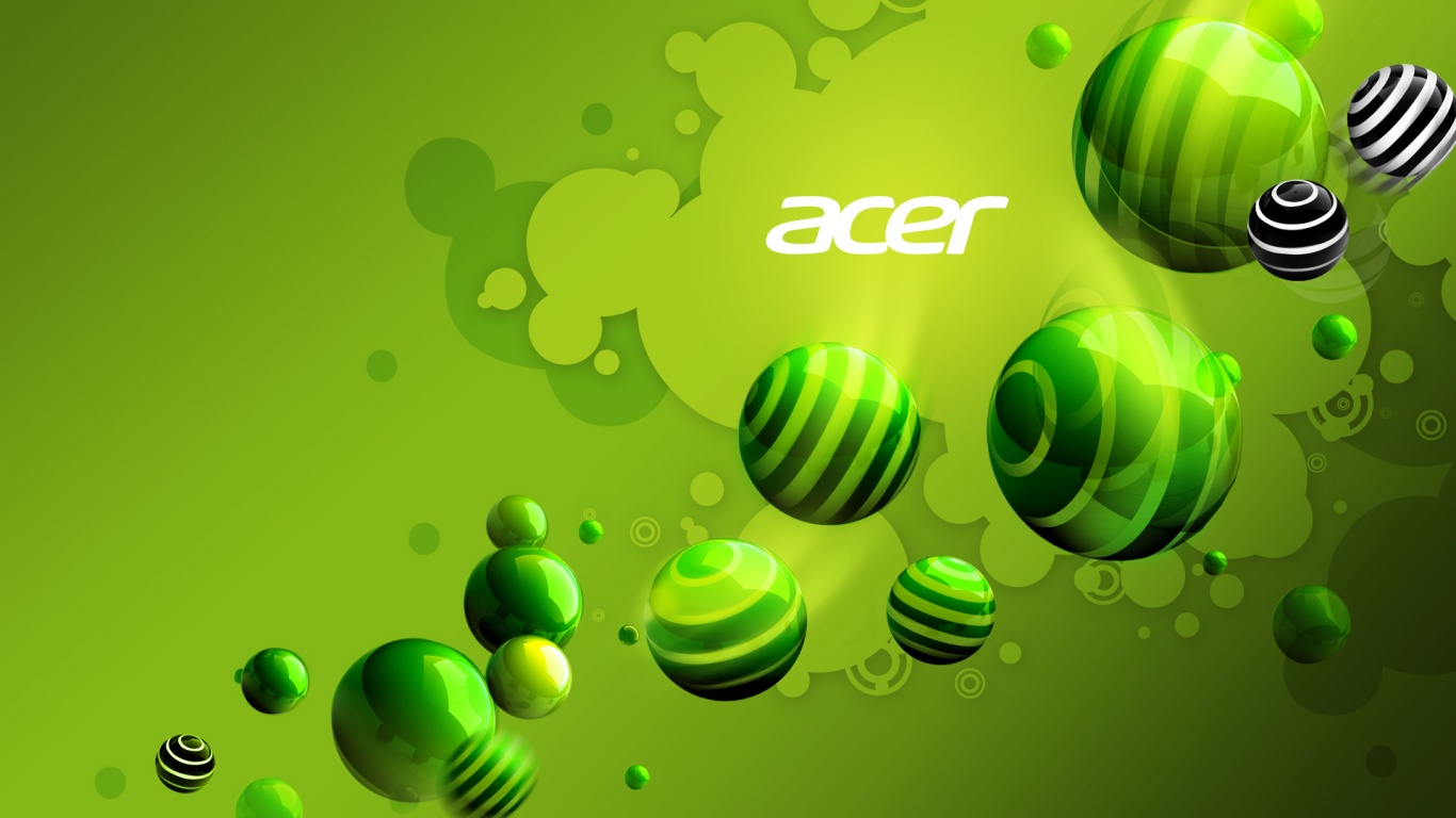 Walppaper 1366x768 Acer Aspire Green Desktop Pc And Mac