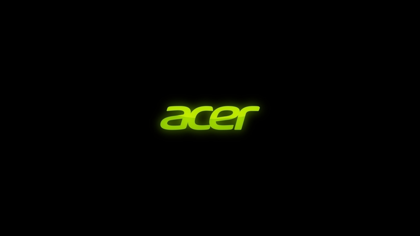 1366x768 Acer on black desktop PC and Mac wallpaper
