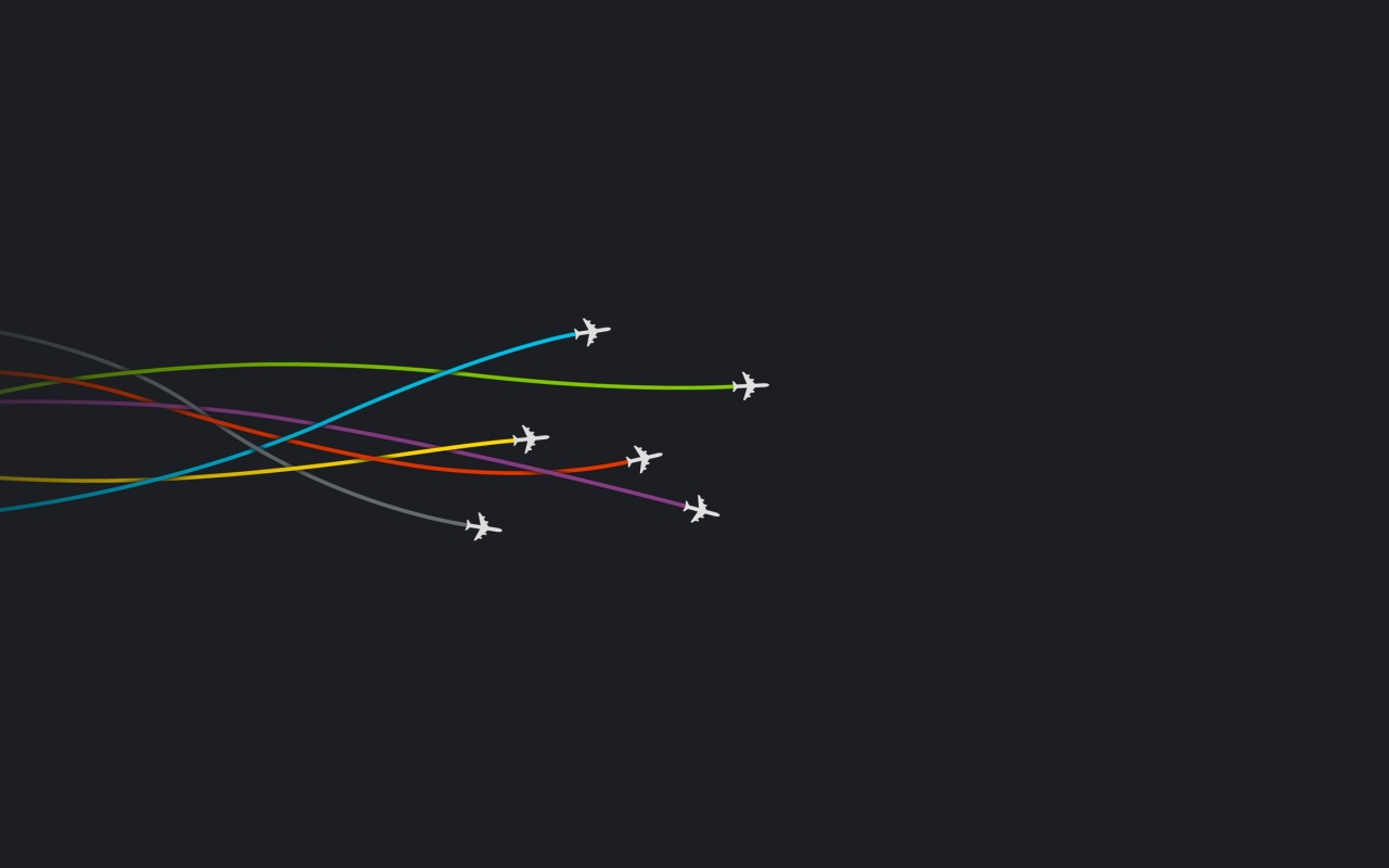 1280x800 Aircrafts on Dark Background