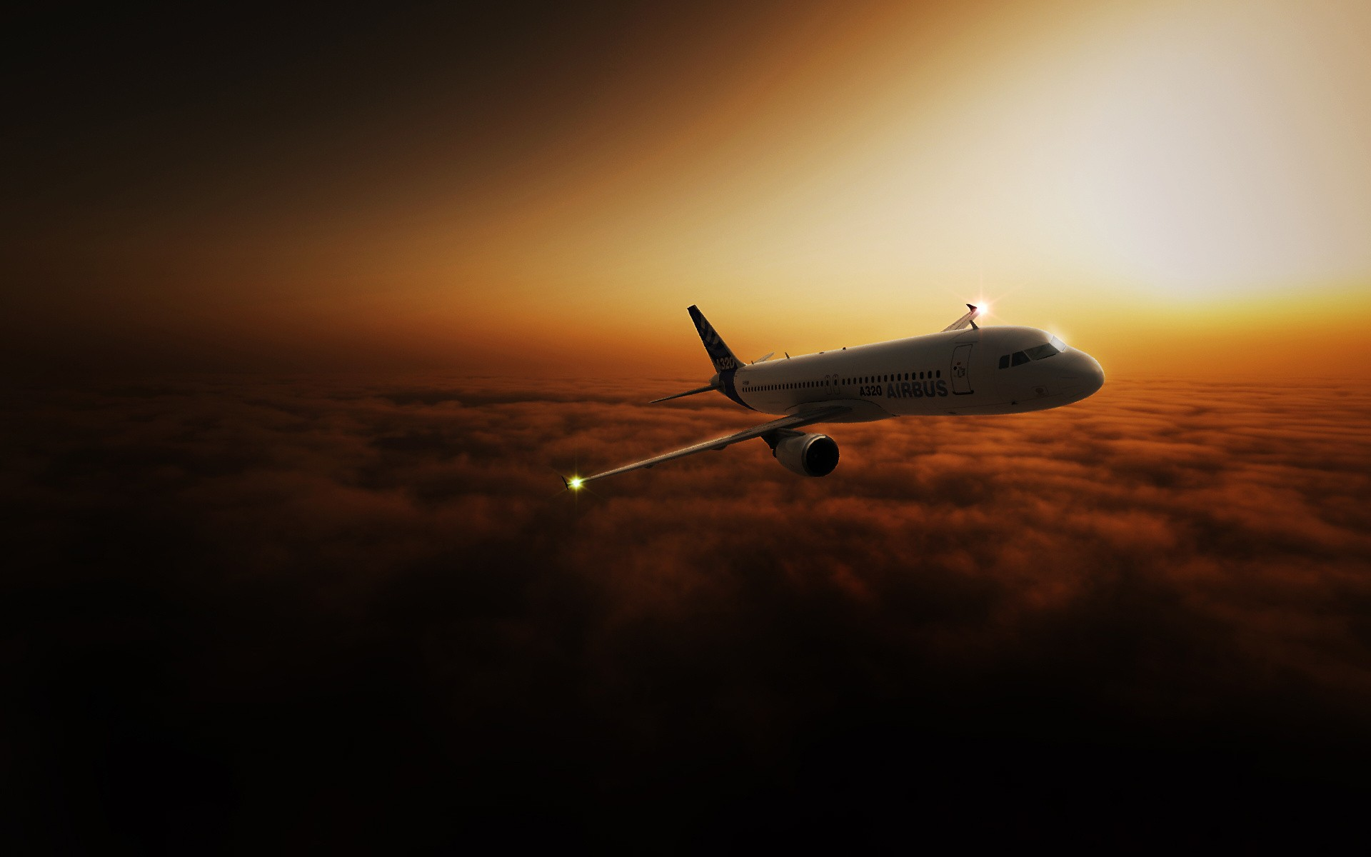 airliner in the sky wallpapers airliner in the sky stock
