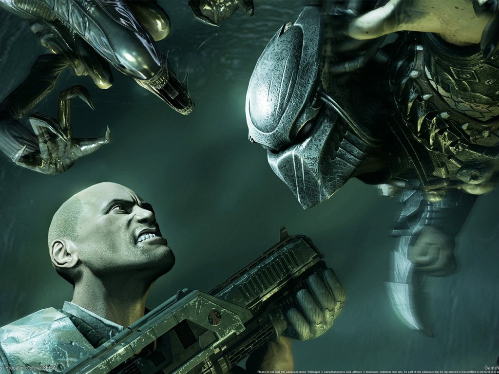1024x768 Alien Vs Predator, aliens, console, games