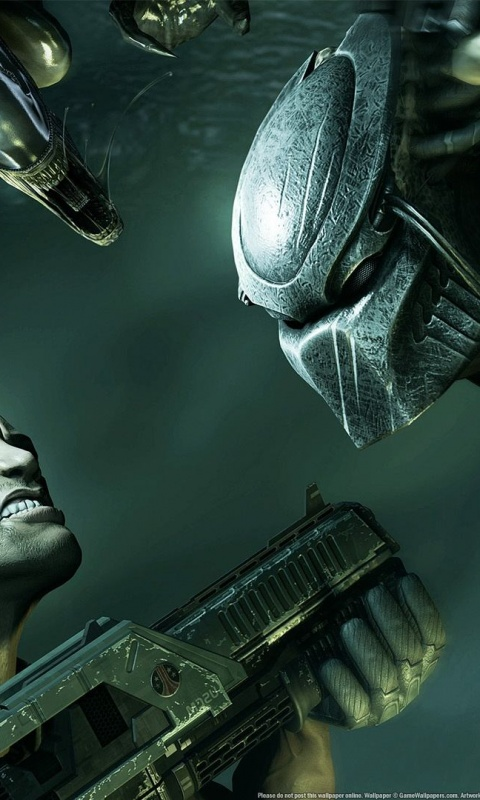 480x800 Alien Vs Predator, aliens, console, games