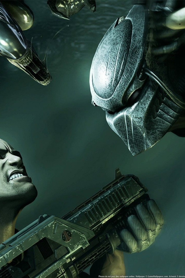 640x960 Alien Vs Predator, aliens, console, games