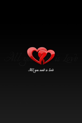 Love Wallpaper For Iphone 3gs : 320x480 All you need is love Iphone 3g wallpaper