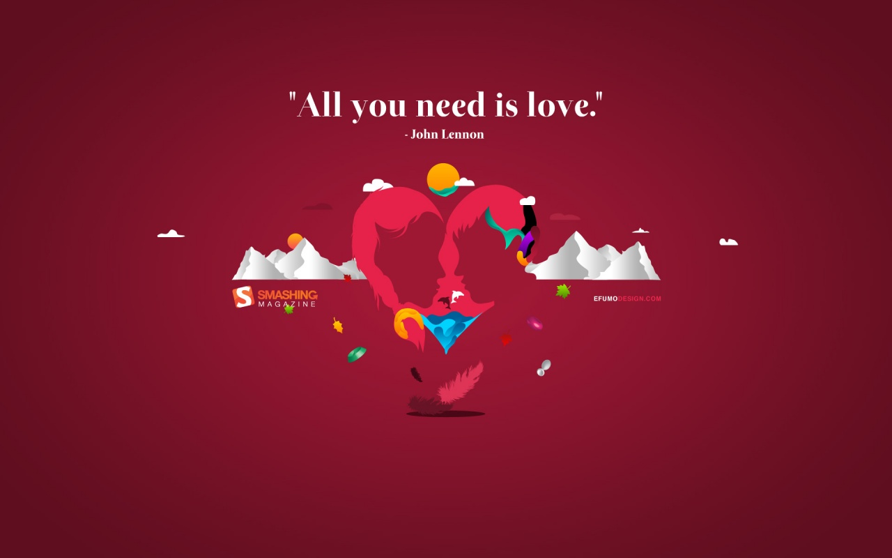 Love Is All Wallpaper : 1280x800 All You Need Is Love desktop Pc and Mac wallpaper